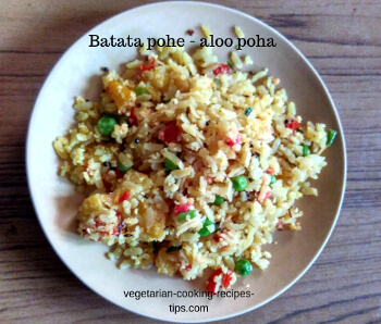 batate pohe - aloo poha - potato poha