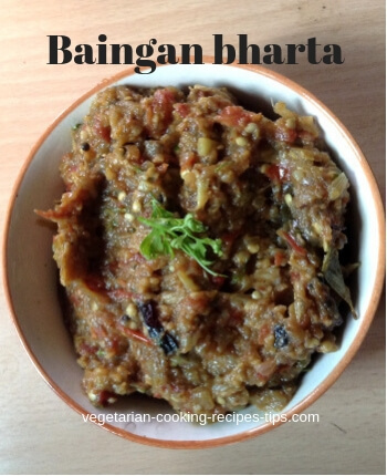 Baigan Ka Bharta - North Indian Style Baigan Bharta recipe