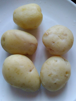 boiled potato - aloo