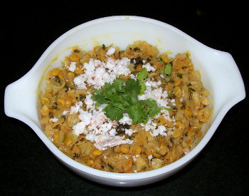 cabbage chana dal subji