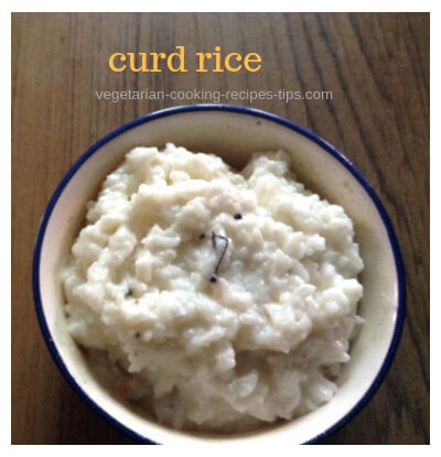 curd rice - yogurt rice