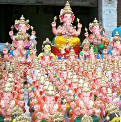 Gauri - Ganesh - painted idols for sale