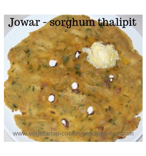 jowar thalipit sorghum roti with butter