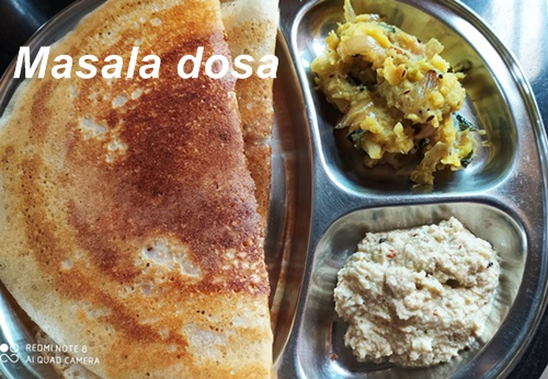 South Indian Masala dosa breakfast