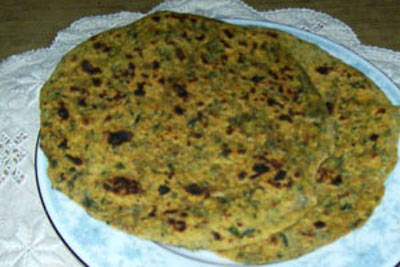 Methi paratha - Fenugreek flat bread