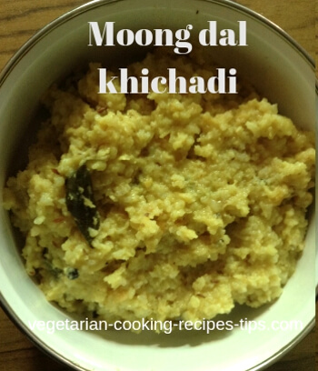 Moong dal khichadi - mung bean and rice recipe