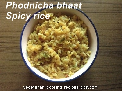Phodnicha bhaat - Maharashtrian spicy rice