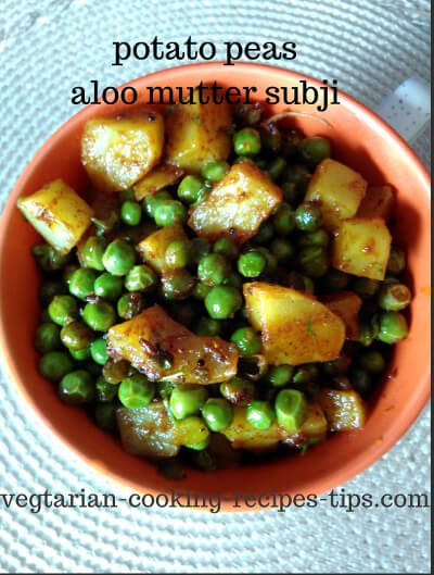 Ready potato peas - aloo matar subji