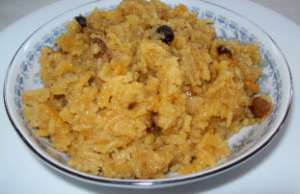 Sweet coconut rice - Narali bhaat