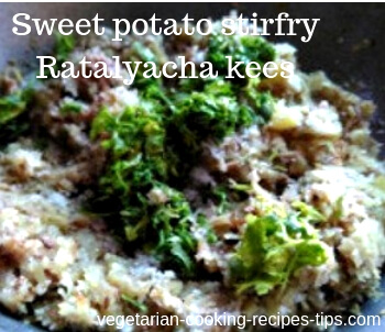 Sweet potato stirfry - Ratalyacha kees