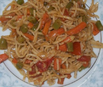 Chinese noodles vegetarian