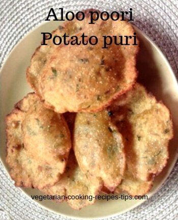aloo poori - potato puri