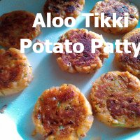 Aloo tikki - potato patties or cutlet