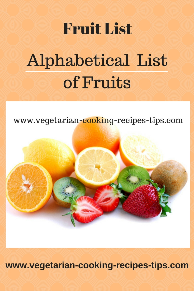 Fruit Alphabetical List List Of Fruits Fruit Images Pictures Of