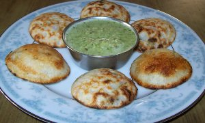 Ready to eat spicy appam - gundpangulu - paddu with coconut chutney