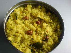 Spicy buttermilk poha