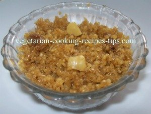Dalia sheera, cracked wheat halwa