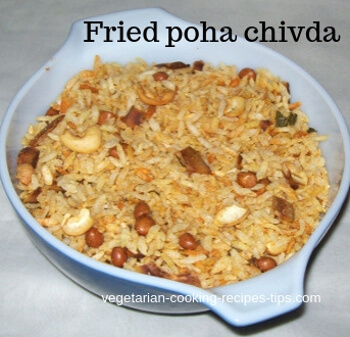 Fried poha chivda