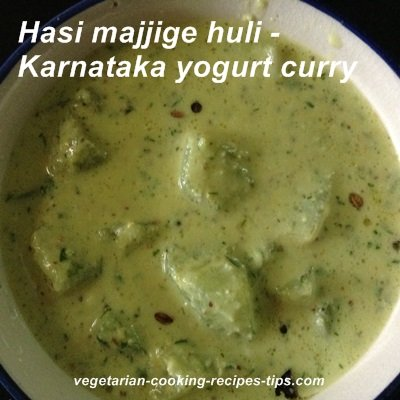 Hasi majjige huli - Karnataka yogurt curry