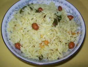 Lemon rice - lime rice - Nimbe chitranna