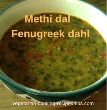Methi dal - fenugreek leaves dahl
