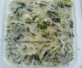 Bhindi ka bharta - okra in yogurt