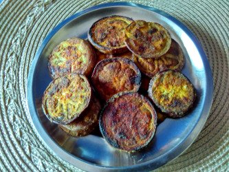 vangyache kaap - shallow fried eggplant