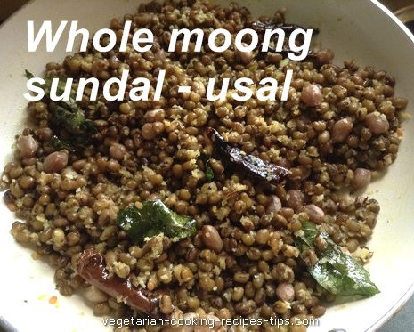 Whole green gram - moong sundal - gugri - usal