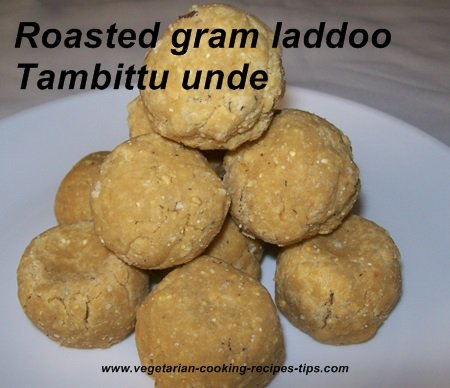 Roasted gram laddoo - Tambittu unde