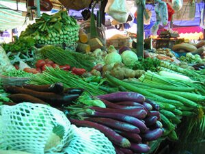 Indian vegetable market